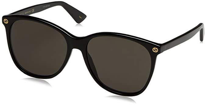 fdf6b0d6854 Gucci 0024S 001 Black 0024S Round Sunglasses Lens Category 3 Size 58mm