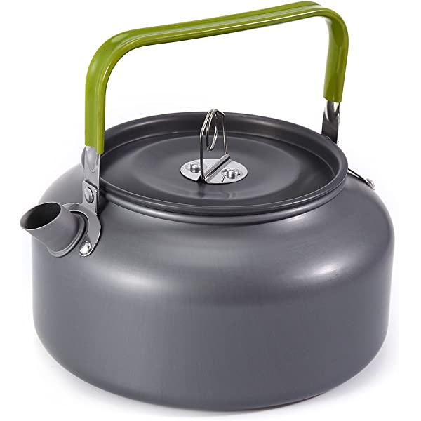 A-SZCXTOP 1.1L Portable Water Kettle Ultra-Light Anodised Aluminum Teapot Coffee Pot for Camping Hiking Backpacking Picnic