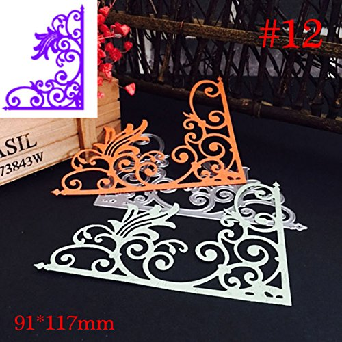 gainvictorlf Halloween Supplies Christmas Branches Corner Metal Cutting Die Stencils for Scrapbooking DIY Crafts - #12