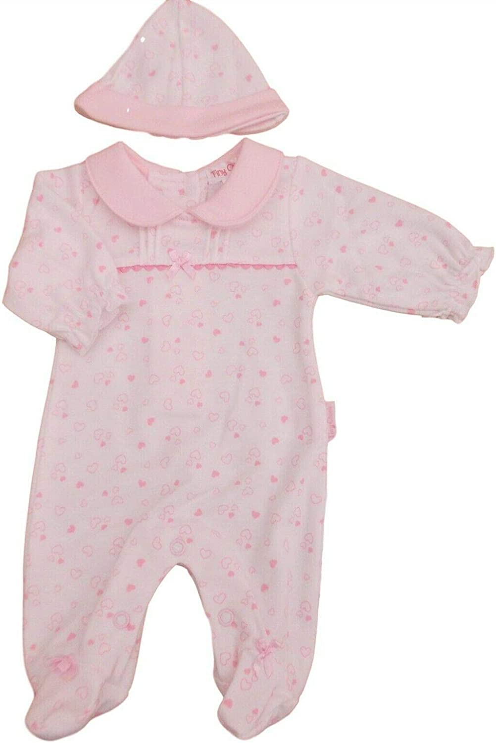 Little Chick with Tags Tiny Premature Preemie Baby Girls Sleepsuit /& hat Clothes
