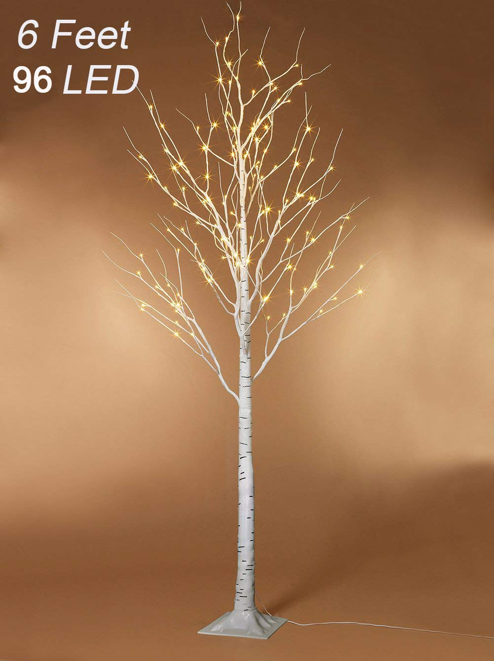 Twinkle Star Lighted Birch Tree 6 Feet 96 LED Home Wedding Festival Party Christmas Decoration (Birch Tree) by Twinkle Star