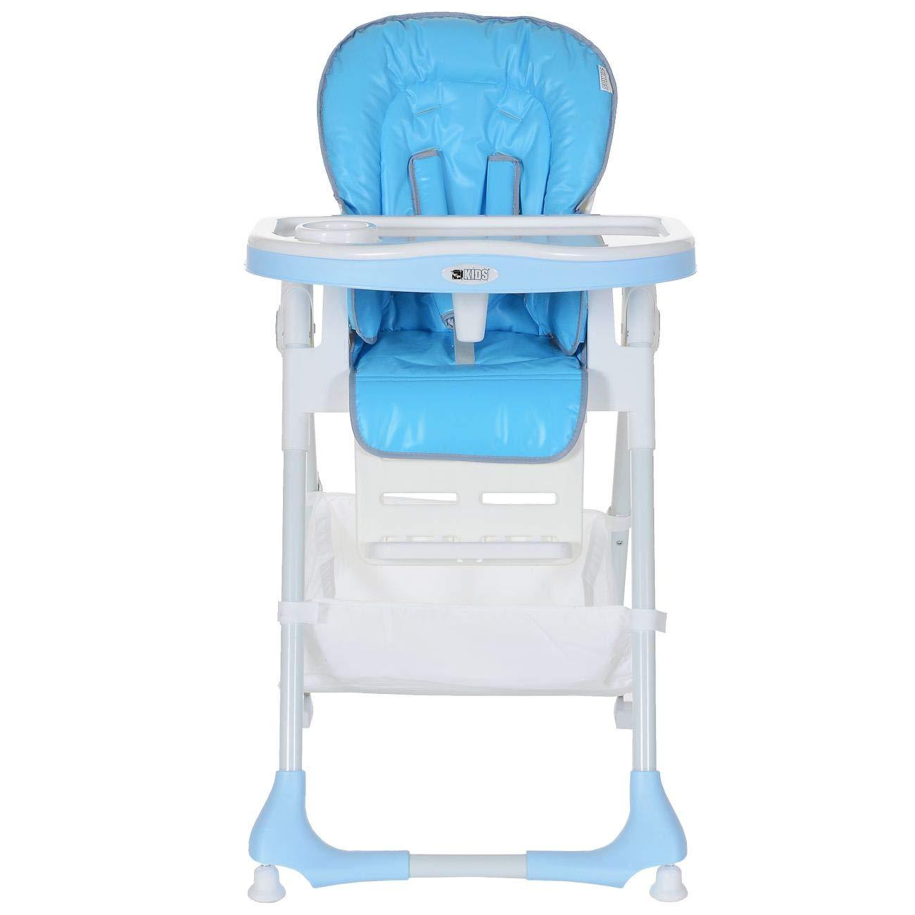 Plegable Cintur/ón 5 Puntos; Azul Silla Trona Beb/é Reclinable Altura Regulable