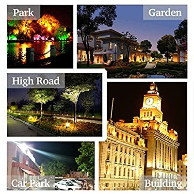 WEDO 200W RGB Led Flood Light IP66 Waterproof 16 Colors Change 4 Modes with Remote Control Wall Wash Light Security Light for Outdoor Garden Landscape Yard Car Park(Plug is not included)