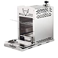 Elektrogrill silber Edelstahl XXL Electro Grill Balkon 800 Grad ✔ eckig ✔ Grillen mit Gas Oberhitze ✔ für den Tisch