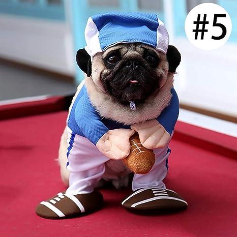 laamei Ropa para Mascotas, Halloween Costume Traje Disfraz de Mascota de Navidad Vestido de Deporte