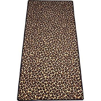 Amazon Com Dean Leopard Animal Print 30 Quot X 6 Carpet