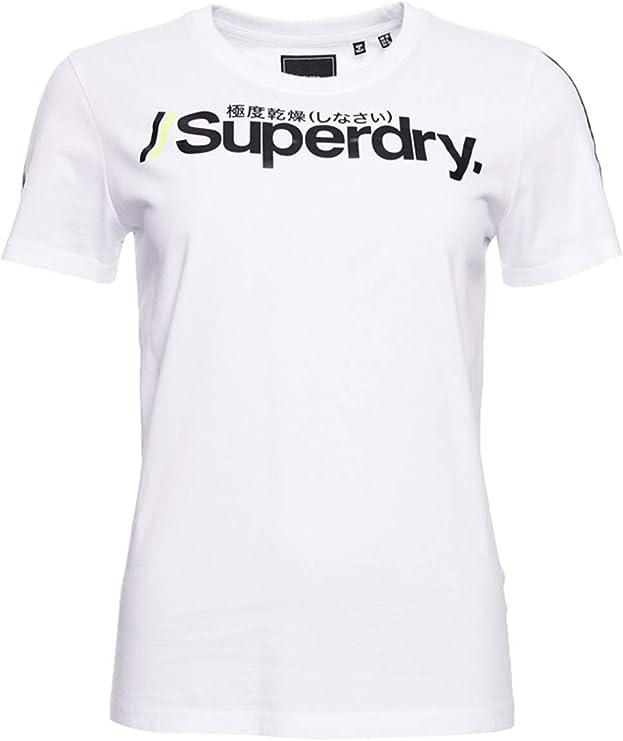 Superdry Mujer Camiseta Deportiva Swiss Logo: Amazon.es: Ropa y accesorios