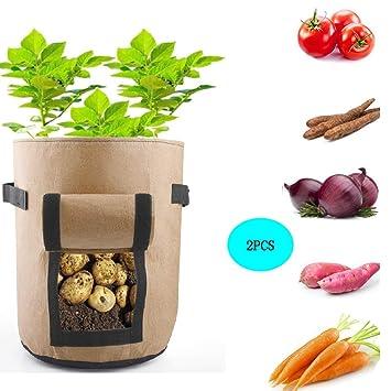 Bolsas de Cultivo de Papa, Bolsa de Cultivo de Plantas,Bolsas para jardineras de cultivo l jardín I aireación natural para cultivar vegetales y ...