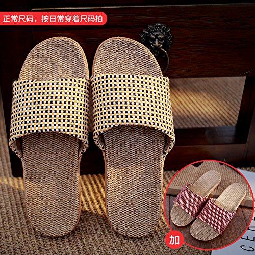 DogHaccd casa la Arancione per di maschio spessore pantofole indoor casa femminile estate pantofole cool anti pantofole slittamento estate coppie rosso Biancheria 1 S6rwH6q