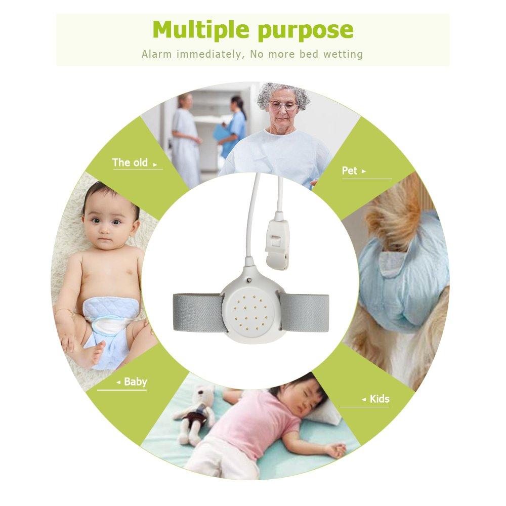 Anself-Alarma Sensor de Enuresis Para Bebés Niños,con Seguridad de Alta Sensibilidad