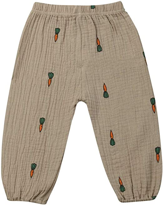 YUN HAO Unisex Kid Toddler Casual Eelastic Pants Hiphop Harem Trousers