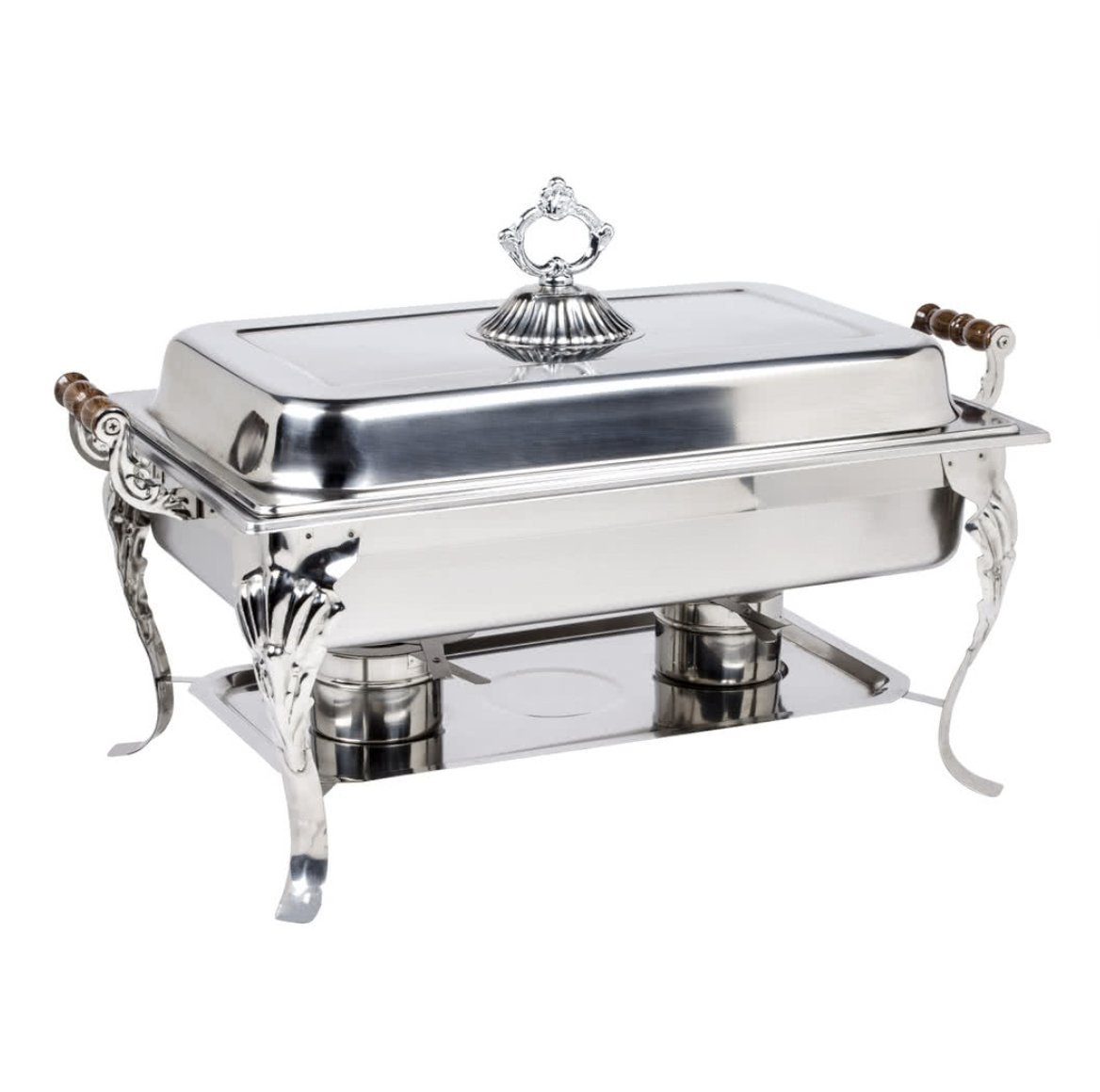 4PACK Classic Rectangle 8 Qt. Stainless Steel Full Size Chafing Dish by HEDY4LESS (Image #2)