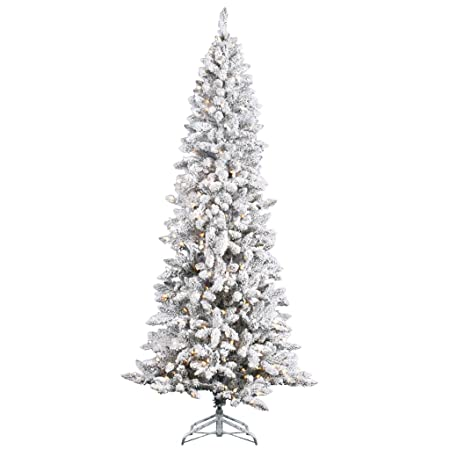 Vickerman Flocked Pencil Pine Pre Lit Christmas Tree Amazon Co Uk