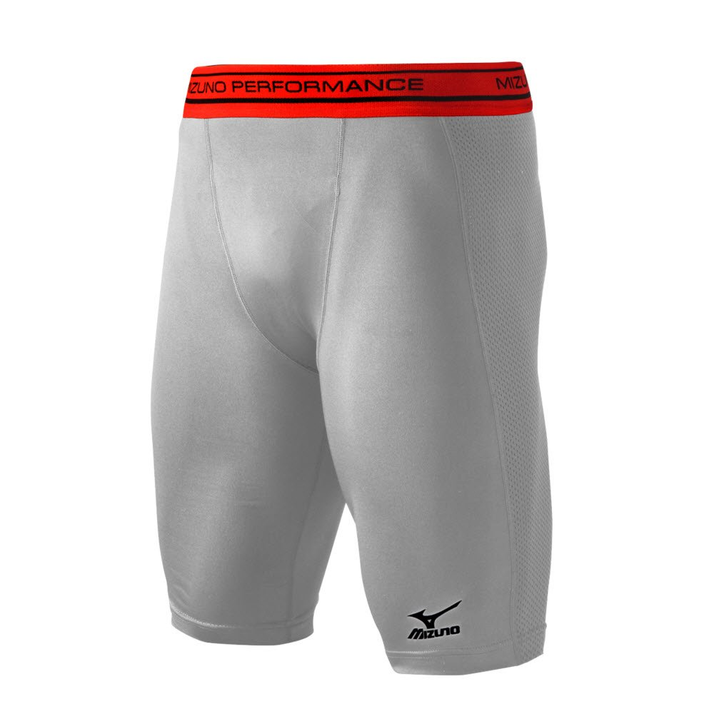 Mizuno Eliteパッド入りSliding Shorts B015G6AX4K Small|グレー グレー Small
