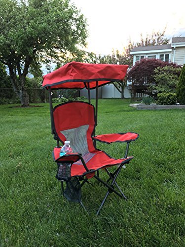 Westfield Outdoor Kid's Folding Chair with Canopy and Durable Carry Bag Red by Westfield Outdoor