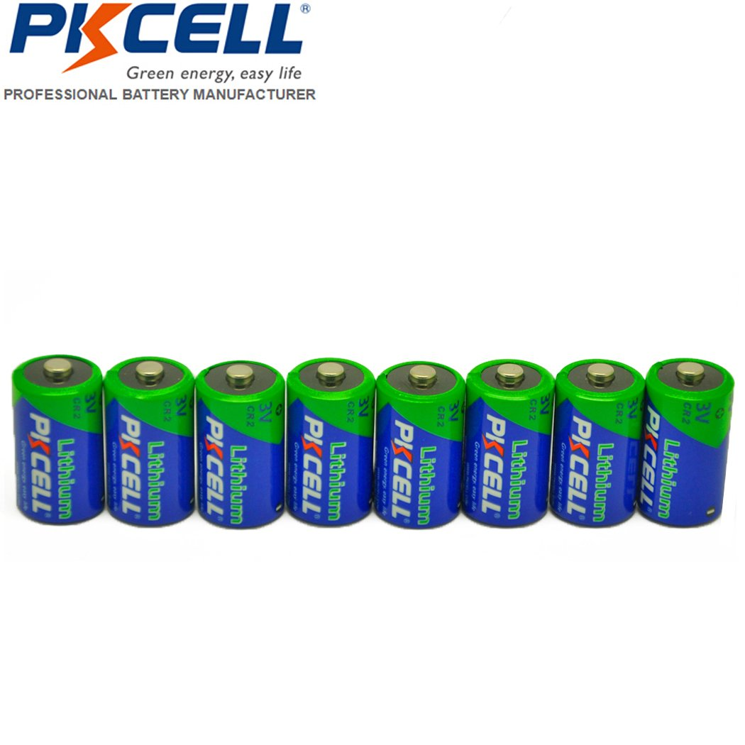 8 Pack CR2 3V 850mAh Lithium Camera Batteries PKCELL