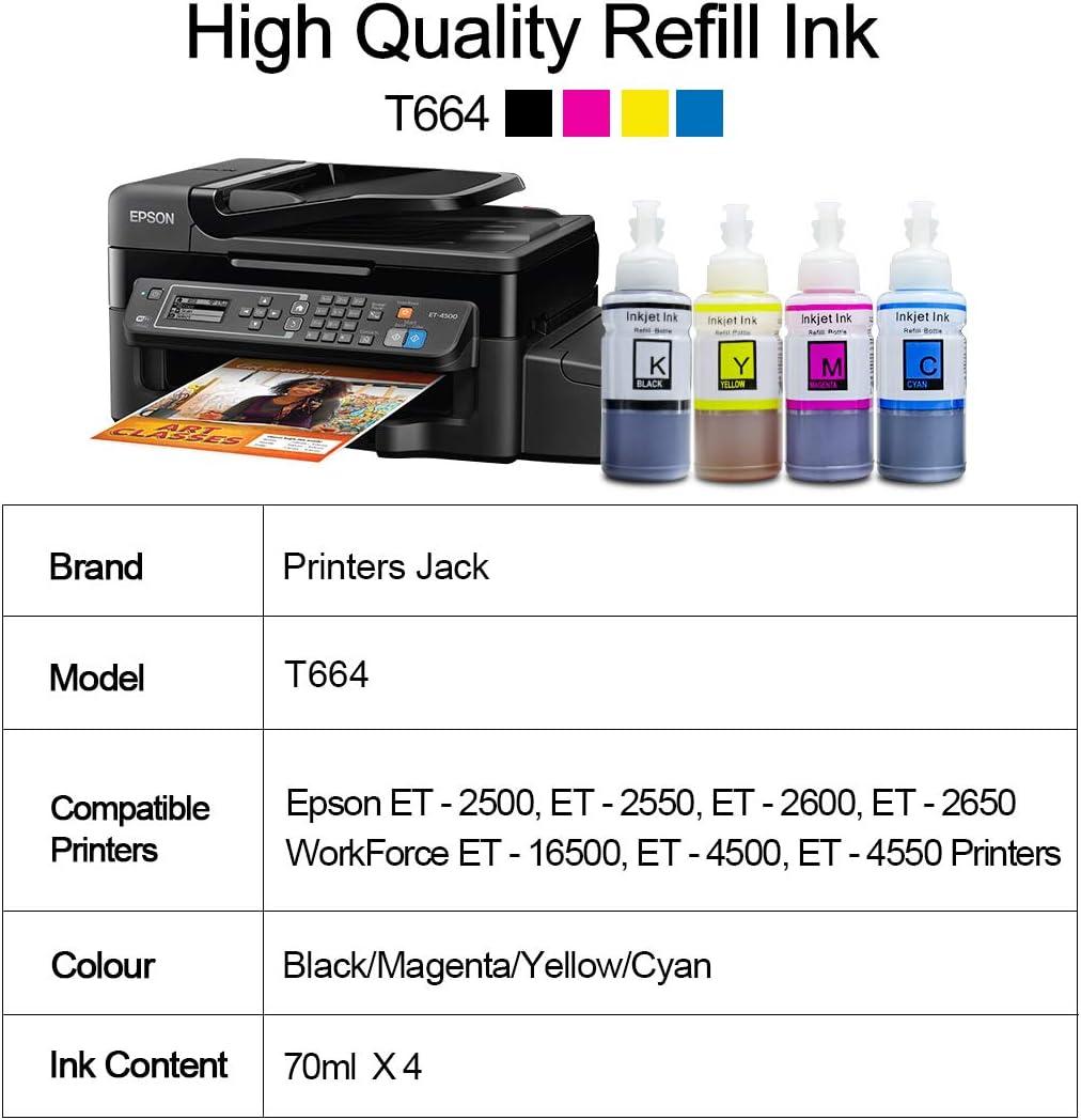 Amazon.com: Impresoras Jack Juego de 4 Compatible T664 ...