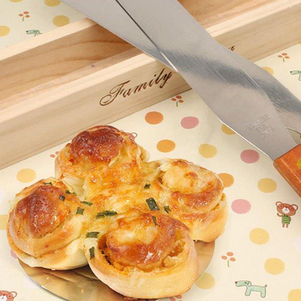 Demarkt Baking Tool 8 Inch Wooden Handle Spatula Blade Tool Cake Tool by Demarkt (Image #2)
