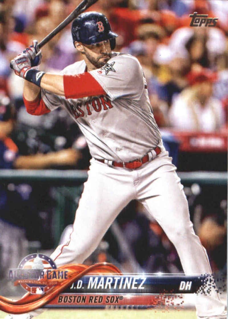 2018 Topps Update #US23 J.D. Martinez Boston Red Sox MLB Baseball Trading Card