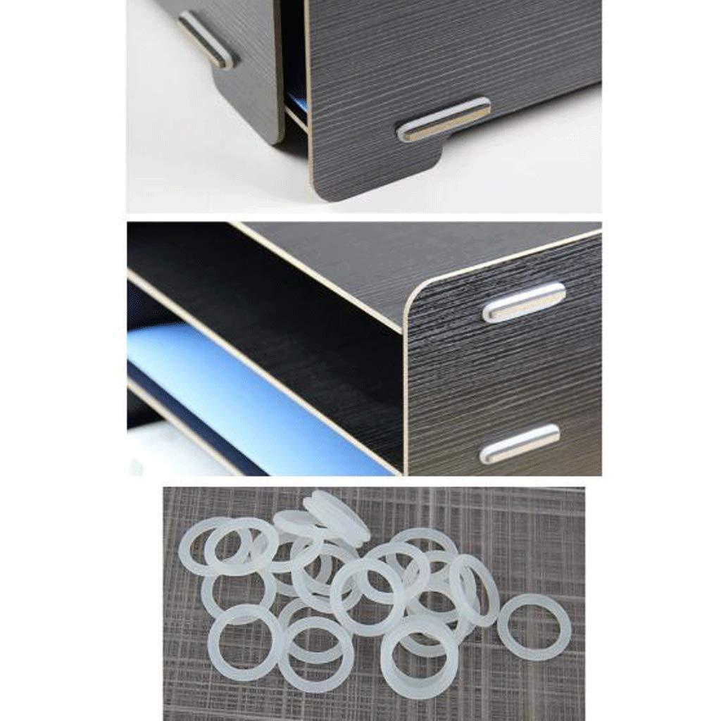 File Holder Office Wooden Desktop Storage Box Multi-Layer Data File Rack Color : C