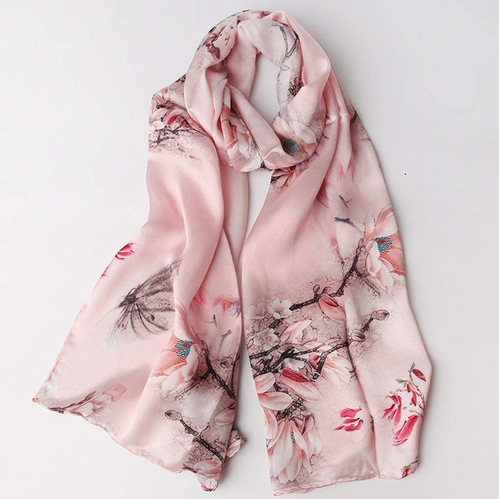 bluee Paioup Ladies Silk shawl silk scarf windproof warm send family friend Perfectly expresses unique temperament