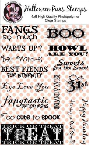 Amazon.com: Joy's Life Halloween Puns Clear Stamps: Arts, Crafts ...