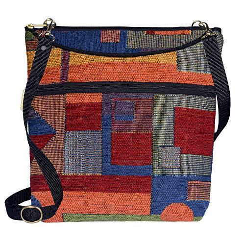 Danny K Women's Tapestry Bag Crossbody Handbag, Maggie Purse Handmade in the USA (Festival)