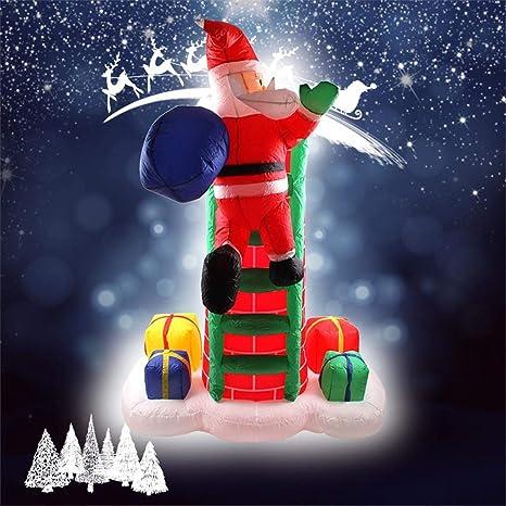 Papa Noel Hinchable LED Decoracion Navidad Inflable Inflable ...