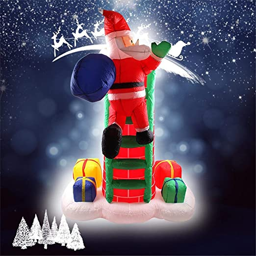 Papa Noel Hinchable LED Decoracion Navidad Inflable Inflable ...