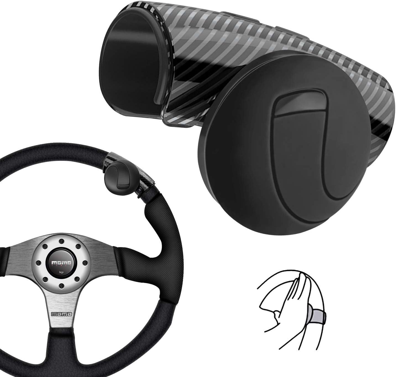 Universal Lenkrad Knopf Mühelos Drehen Geräuschlos Flexible Steuerung Für Auto Traktor Lkw Boot Schwarz Auto