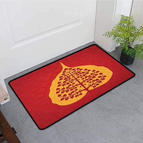 Amazon.com : ONECUTE Bedroom Doormat, Leaf Artistic Design ...