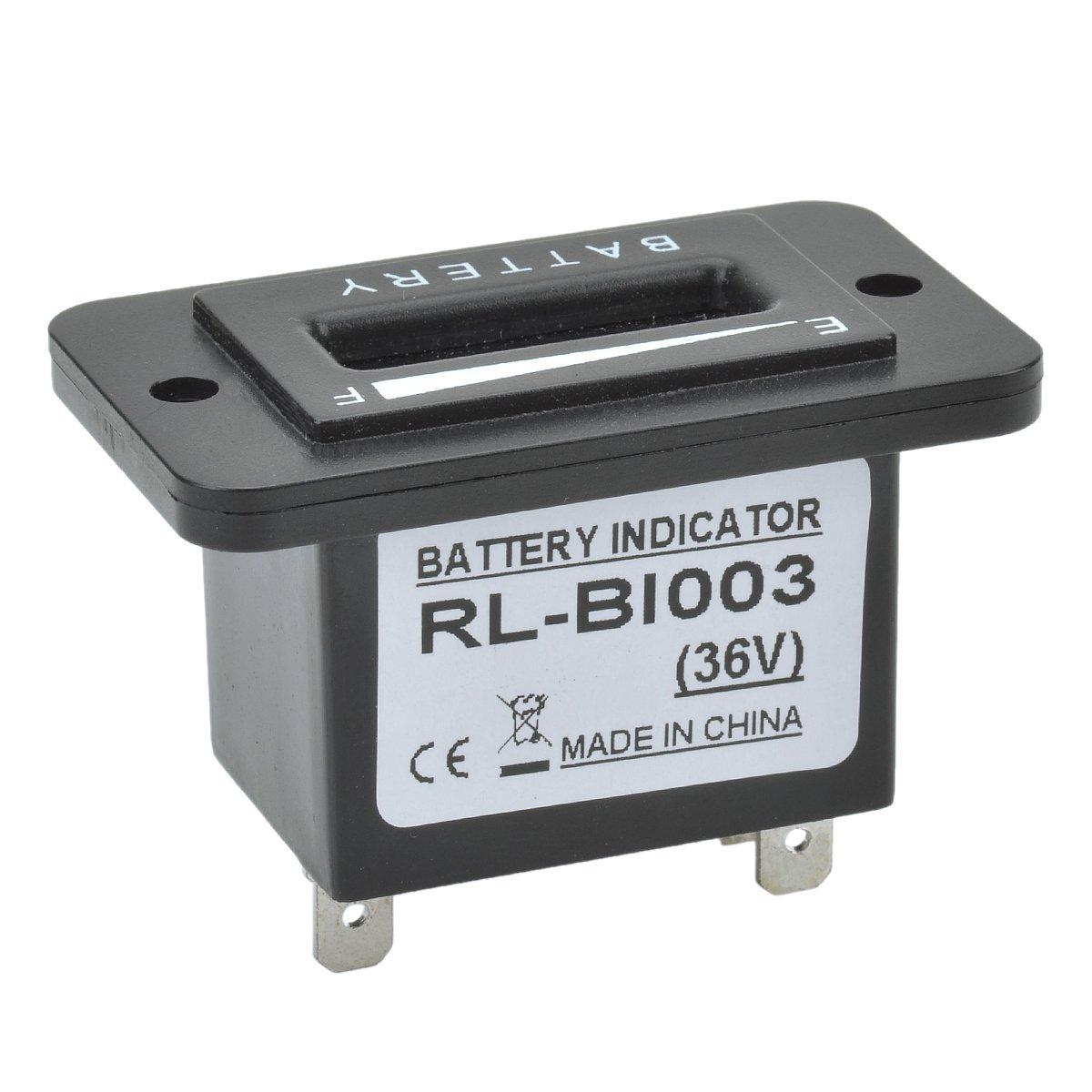 IDS Home 10-Segment LED Display 36V Battery Indicator Meter Gauge for Golf Cart, Yacht, Motorcycle, Forklift