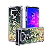 El Lumiere Air Art Milkyway Case for Samsung Galaxy Note 9 Flowing Liquid [Bling Glitter Starlight] Soft Flexible TPU [Cute Printed Back Cover] (Mermaid)