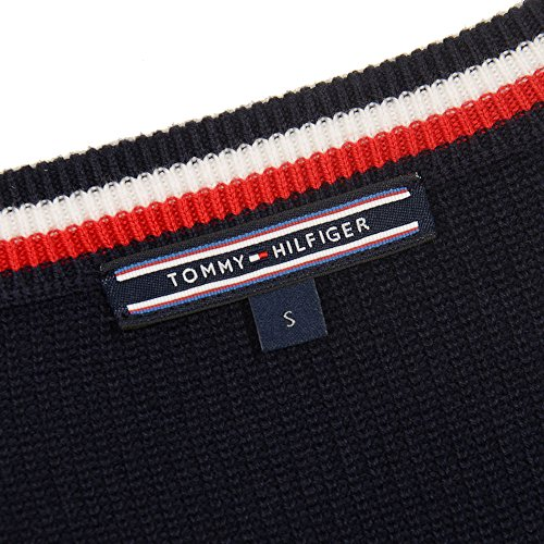 Tommy Hilfiger WW0WW21831 Paris Cable T-Shirt Damen Midnight TOpCUmS