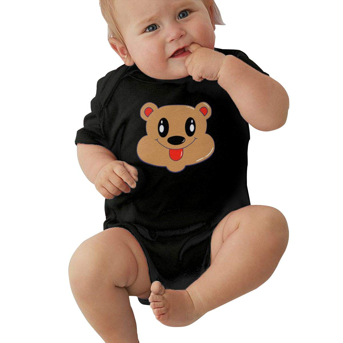 Bear Printed Baby Boy Girl Short-Sleeved Bodysuit Outfits Clothes