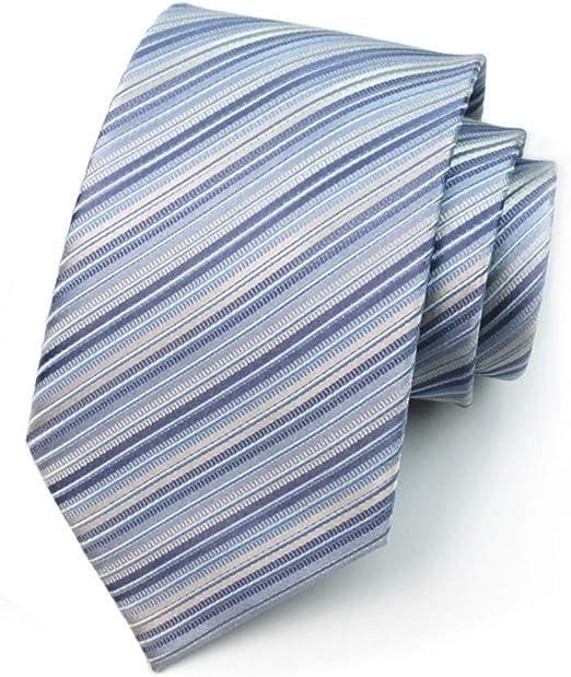GuanBen Corbata para Hombre y Corbata para Hombre, patrón de Rayas ...