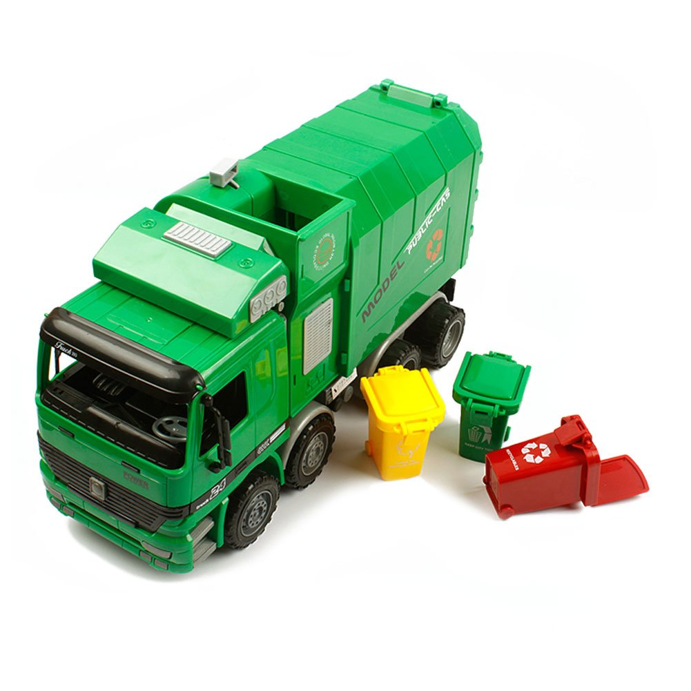 amazon com kawo children garbage truck sanitation trucks toy car