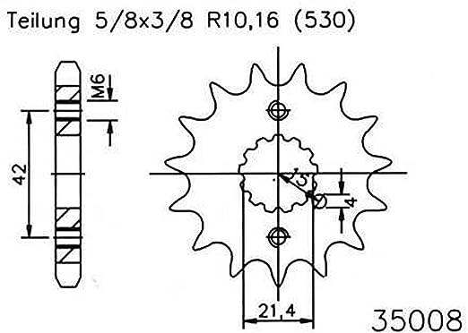Ritzel 17 Zähne Stahl 530er Teilung 5 8x3 8 Für Kawasaki Gpx 750 R Zx750f 1987 1988 Auto