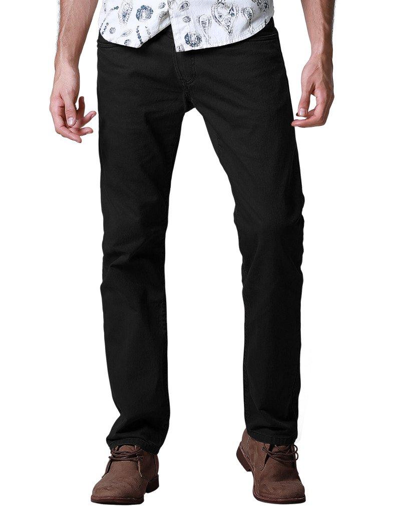 Match Men's Regular Fit Straight Leg Jeans(36,8092 Black)