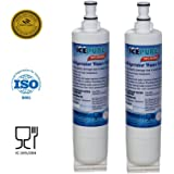 IcePure Premium Refrigerator Replacement Water Filter, compatible with Whirlpool PUR 4396508, 4396510 for Kitchenaid Maytag Whirlpool Side By Side Refrigerator (2 pack)