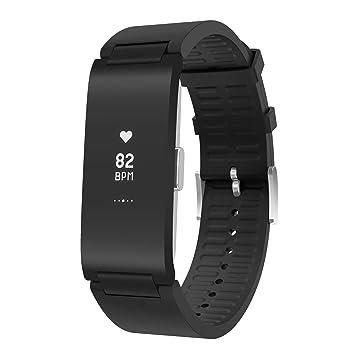 Withings Pulse HR Bracelet connecté dactivité et Suivi du Rythme Cardiaque Mixte Adulte, Black, 18mm
