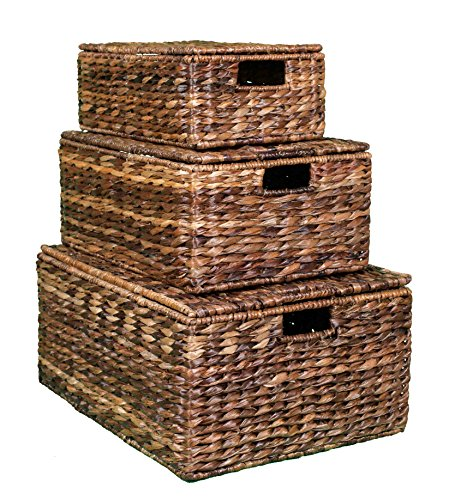 BirdRock Home Abaca Nesting Baskets | 3 baskets | Environmentally Friendly