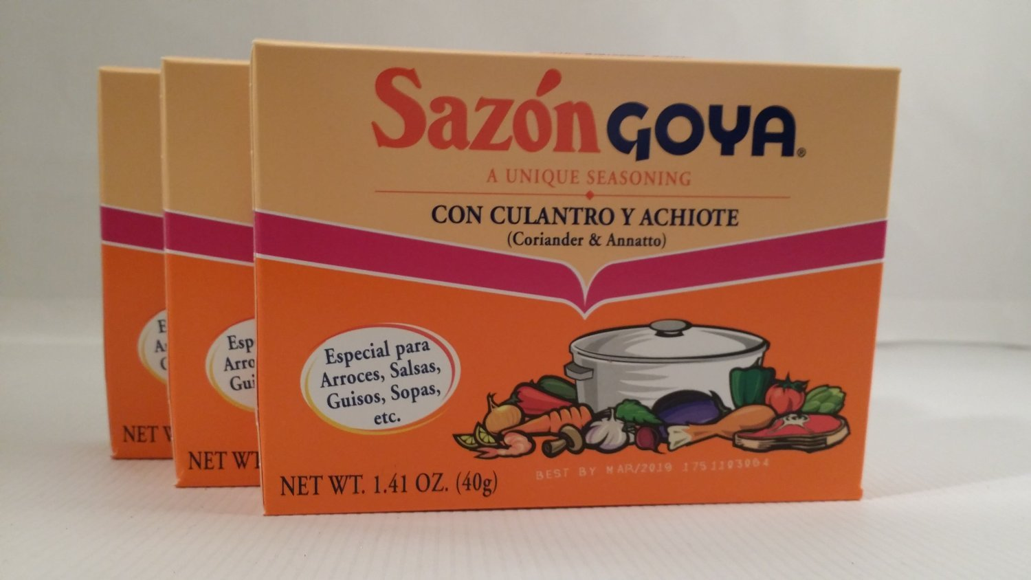 Amazon.com : Goya Spice Combo Bundle:includes Adobo with Pepper 16.5-ounce Plastic Bottle, 3-boxes Sazon Goya Con Culantro Y Achiote and 3-boxes Goya Sazon ...