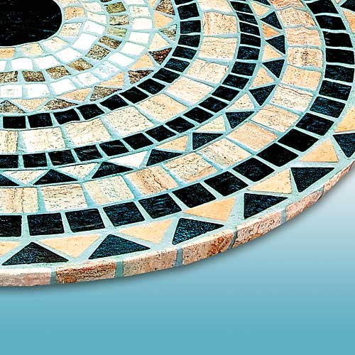 Tile Table Cover, Round Vesuvius Stone (296601)