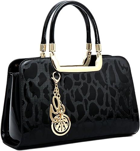 Ladies New Patent Tote Bag Large Shoulder Handbags Women/'s Fashion Designer Bags