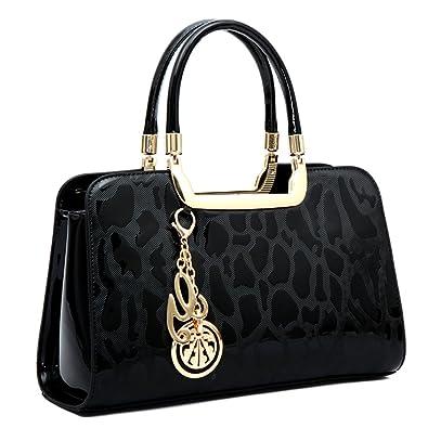 192952790452 Women s Patent Leather Handbags Designer Totes Purses Satchels Handbag  Ladies Shoulder Bag Embossed Top Handle Bags