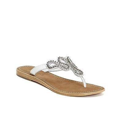 Bequeme Damen Sandalen Zehentrenner Glitzer Metallic Komfort-Sandalen Kork Bequem Strand Schnallen Schuhe 117152 Gold 36 Flandell t9puA