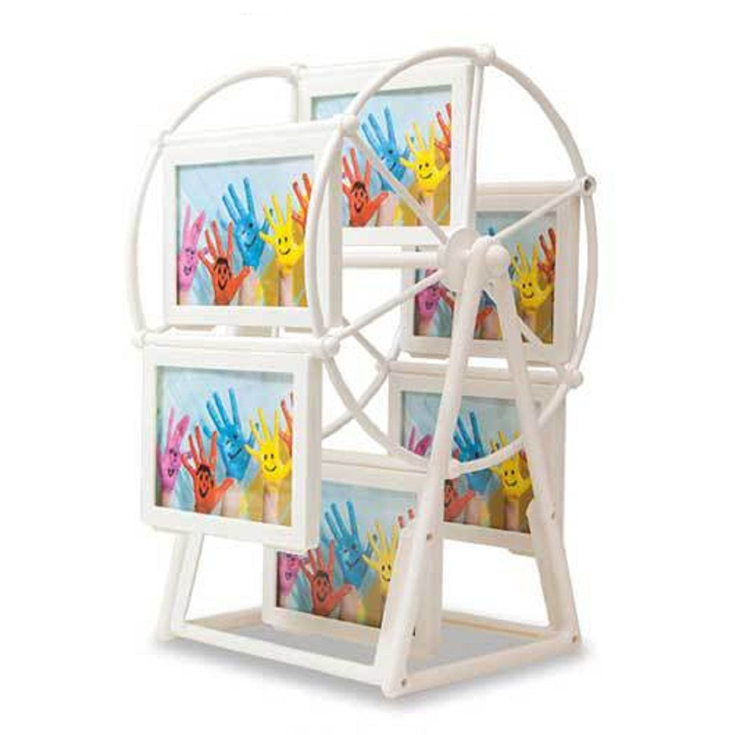 Creative 5 inch Rotating Ferris Wheel Photo Picture Frame,6 frames hold 12 photos Mishiner