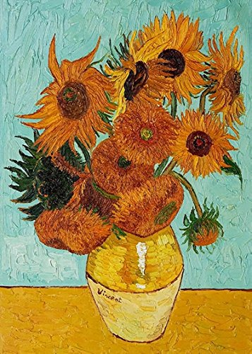 Wieco Art Sunflower by Vincent Van Gogh Oil Paintings Reproduction Modern Floral Giclee Canvas Prints Artwork Flowers Pictures on Canvas Wall Art for Home and Office Decorations