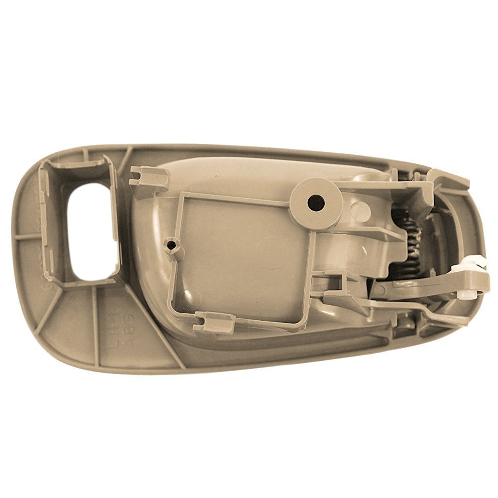 TruBuilt 1 Automotive 69206-02060-E0//94859671 Tan//Beige Left Driver Side Interior Door Handle Front w// Powerlock Hole Chevy Prizm and Toyota Corolla 1998 1999 2000 2001 2002 Replacement for